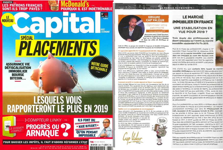 INTERVIEW – Magazine Capital n°328 JANVIER 2019